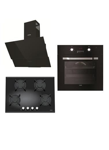 VİNOLA Vinola Set 038 (MOG.7020.111.01 + MOFA.501.111.01  + MCWB104.111.602) Siyah Ankastre Set Renkli